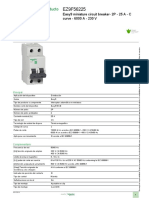 SCHNEIDER ELECTRIC Interruptor Termomagnético EZ9F56225 Data Sheet
