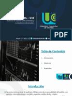 NIA_540 - Auditoría en relación a estimaciones contables