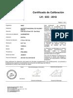 Certificado de Calibración de Higrometro