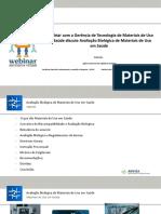Webinar 12 - Avaliação Biológica de Materiais de Uso Em Saúde