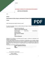 Modelo Carta Autorizacion Pagos Con Transferencia Bancaria
