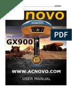 ACNOVO GX900 User Manual 18.10.20-V2