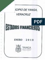 Estados Financieros Yanga Enero 2018