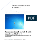 Cómo Personalizar La Pantalla de Inicio de Sesión en Windows 7 Efectivo