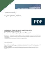 Presupuesto Publico Lisandro Vazquez