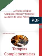 LEC 1 Introducción a Terapias Complementarias y Sistemas Médicos De