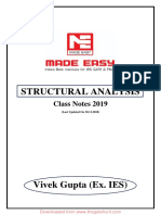 Structural Analysis Notes