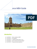 Distance MBA Guide Final