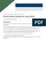 Pensión Básica Solidaria de Vejez (PBSV)