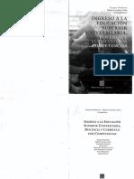 Ingreso a La Educacion Superior Universitaria - Docencia y Curriculo Por Competencias