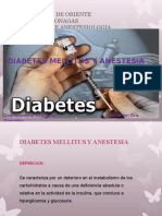 Diabetes Mellitus y Anestesia