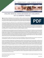 Online Sexual Exploitation of Children