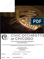Civic Orchestra Horn Application 2019|2020 Season