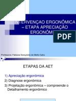 FISIO TRAB -Aula 2- Apreciação Ergonomica