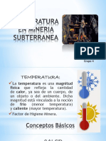 Temperatura en minas subterráneas de carbón