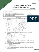 Question paper mathematics
