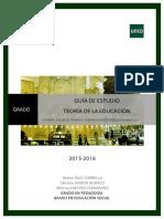 GUÍA TEORÍA DE LA EDUCACIÓN