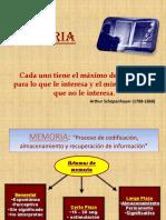 El concepto Memoria