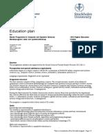 Stockholm Uni Education Plan