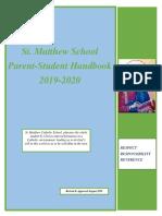 St. Matthew Handbook PS 2019-20