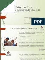 Presentación Código de Ética, Colegio de Ingenieros de Chile A.G.