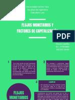 Flujos Monetarios y Factores de Capitalización. Rikzon Castillo