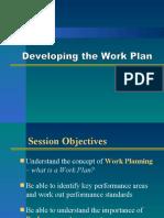 Developing the Work Plan