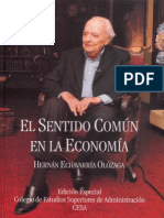 El Sentido Común en La Economía
