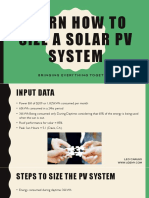 Learn How to Size a Solar Pv System Resources