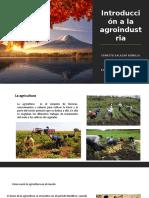 Introducción a La Agroindustria