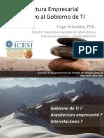 Arquitectura Empresarial como apoyo al Gobierno de TI