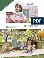 Tabela de Preço - Festa Infantil (Volpi Fotografia) - 2019