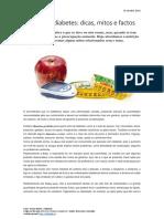 Nutrição e Diabetes. Dicas, Mitos e Factos