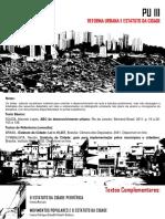 PU III - 2019_2-Aula 02- Reforma Urbana e Estatuto Da Cidade-pt01