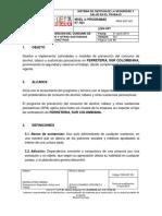 PRG-SST-001 Programa de Prevención Del Consumo de Alcohol, Tabaco y Otras Sustancias Psicoactivas SPA