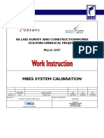 MBES Calibration