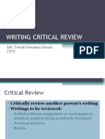 Writing Critical Review