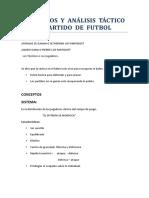 CONCEPTOS  Y  ANÁLISIS  TÁCTICO  DE  UN  PARTIDO  DE  FUTBOL