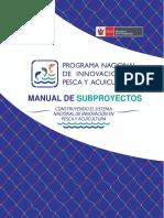 Manual de subproyectos Pnipa
