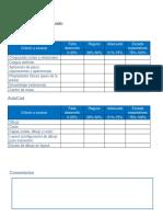 Evaluación de Solidworks y AutoCad