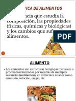 Introducción Bioquímica de Alimentos Sep 2018 IQ