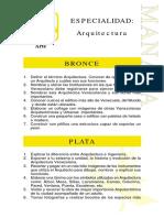 Especialidades Preparacion Profesional Arquitectura