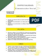 Especialidades Preparacion Pofesional Comunicador Social