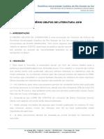 2019 08 20-Pucrs Cultura-edital Premio Delfos de Literatura