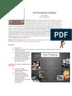 art foundations syllabus 2019
