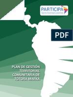 Plan de Gestión Territorial Comunitaria de Totora Marka