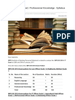 BPS SO IT Officer- Professional Knowledge Syllabus and Weightage