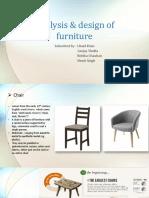 Analysis & Design of Furniture