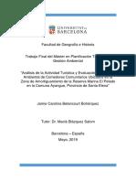 Análisis de la Actividad Turística y Evaluación de Impacto Ambiental Ayangue Santa Elena