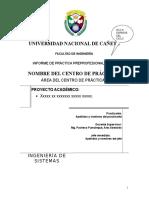 1 Estructura Del Informe Final de Prácticas Preprofesionales. (1)